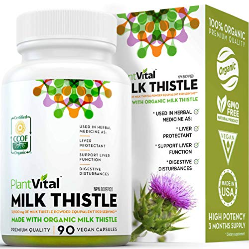 naturals thistles New! Organic Milk Thistle Extract Capsules. 3 Month Supply. Vegan. 12,500mg Strength. Potent 50:1 Extract, 80% Silymarin Flavonoids. Liver Detox, Cholesterol, Weight Management. Non-GMO, All Natural