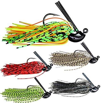 5 pcs 7 g(1/4oz) mixto color Fly Caucho Natación Bass Señuelos Señuelos de Pesca