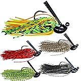 thkfish Fishing Lures Fishing Jigs Swim Jigs Fishing Jigs Bass Mix Color Metal Lead Fishing Jigs Kit Style A 3/8oz 5pcs