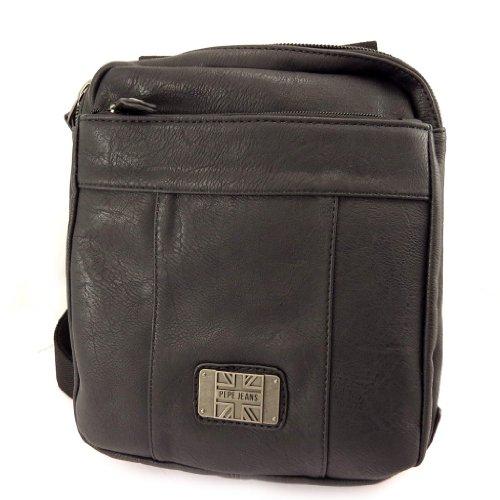 Pepe Jeans [K8791 - Sac bandoulière noir vintage (format tablettes)