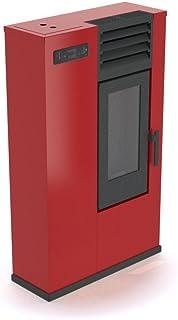 Punto Fuego Estufa Piel, Color Rojo, 7,5KW