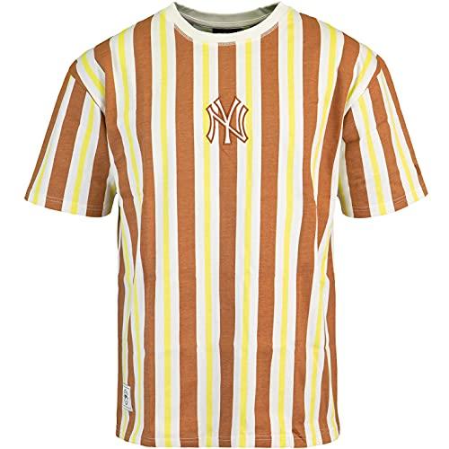 New Era MLB - Camiseta de manga corta, diseño de rayas NY Yankees L