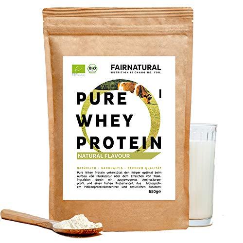 BIO WHEY Protein-Pulver Neutral [aus Deutschland] ohne Soja - Bio Eiweiß-Pulver für hochwertige Eiweiß-Shakes oder als Low-Carb Backprotein für Männer & Frauen - 650g Molkenprotein-Pulver ohne Zucker