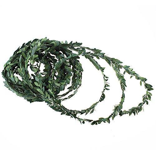 Künstliche Efeu-Girlande von LJY, 30 Meter, mit grünen Blättern, für Hochzeits-Parties und selbstgemachte Stirnbänder