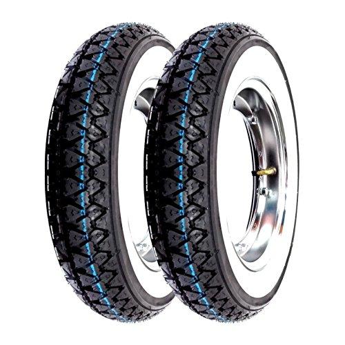 Paire de roues complètes Kenda K333 bande blanche 3.00-10 42J Vespa 50 Special