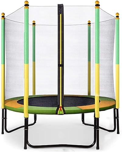 Trampoline mit Geh e, Outdoor Indoor, Geburtstagsgeschenke für Kinder, für Jungen und mädchen, Gelb, 60 Zoll, Unterstützung 200kg gartentrampolin