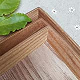 Retro style rectangular adult tray Japanese and Korean log color hotel handmade beautiful pattern ash cutlery-Small 30 * 20 * 2cm