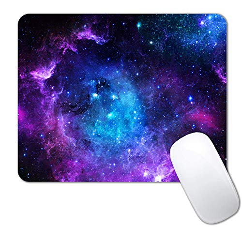 IMAYONDIA Square Gaming Mouse Pad,Blue Purple Galaxy Nebula Universe Outer Space Mouse Pad,Anti--Slip Rubber Base Mouse Pads for Office Laptop Computer PC Men Women,Custom Design Pattern Mouse Mat