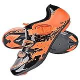 Alomejor Radfahren Schuhe Mountainbike Schuhe Anti Skid Sport Einstellbare Fahrrad Spinning Rennrad Schuh(42-Orange)