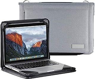 """Broonel Grijs lederen laptop Hoes - compatibel met Lenovo ThinkPad T14s 14"""" Laptop"""