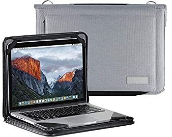 Broonel Grey Laptop Messenger Case - Compatible with The ASUS C201PA-DS02 11.6 inch Chromebook