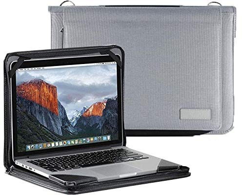 Broonel Grey Laptop Messenger Case - Compatible With The Lenovo Ideapad S145 15.6' HD Laptop