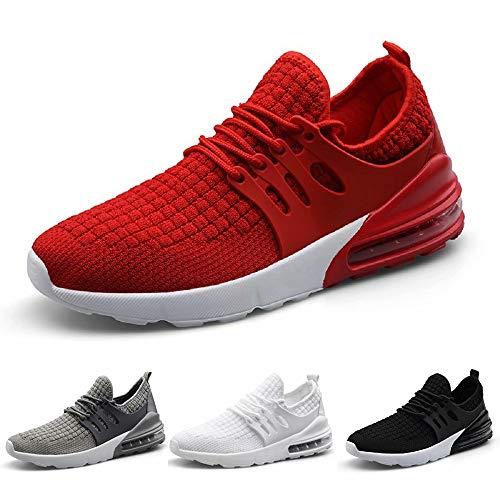 Kinghealth Zapatillas de correr de malla para hombre, transpirables, ligeras, informales, para el gimnasio y los deportes, color, talla 45 EU