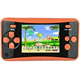 HigoKids Portable Handheld Games for Kids 2.5' LCD Screen Game Console TV Output Arcade Gaming Player System Built in 182 Classic Retro Video Games Birthday for Your Boys Girls(Orange)