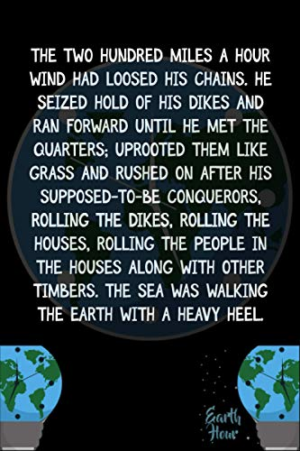 The two hundred miles a hour wind had loosed his chains. He seized hold of his dikes and ran forward until he met the quarters; uprooted them like ... Hour A Lights-Out Event Day Gift Ides
