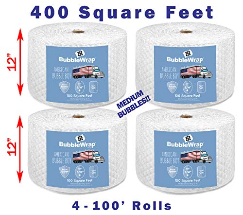 Bubble Wrap, Small 3/16, Medium 5/16 and Large 1/2 with Perforation Every 12' (400' Medium (5/16) Bubble Wrap)