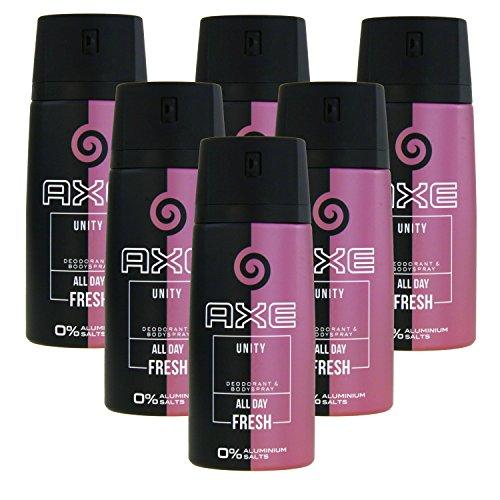 6 x 150ml Axe UNITY for Women Deo Deospray Deodorant Bodyspray Damen Parfüm