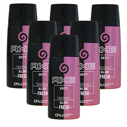 6 x 150ml Axe UNITY for Women Deo Deospray Deodorant Bodyspray Damen Parfüm