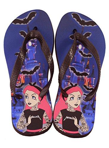 Darkside, Tattoo Princess Flip Flops, Größe: Medium (UK Size 7/9)