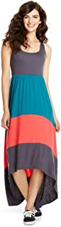 1f59184f7040 Mossimo Supply Co Women's High Low Racerback Sleeveless Charcoal/Navy/Coral  Maxi Dress