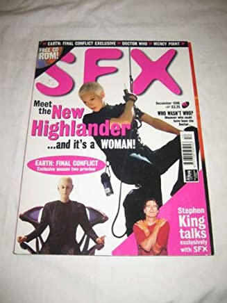 SFX #45 Dec. 1998 The New Highlander Earth Final Confict Doctor Who Stephen King