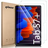 Lanhiem 2 Pack Protector de Pantalla para Galaxy Tab S7 Plus 12.4 2020 Model SM-T970 T975 T976, Vidrio Templado Anti-Huellas, Película Protectora para 12.4 Pulgadas Galaxy Tab S7 Plus / S7+ Tablet