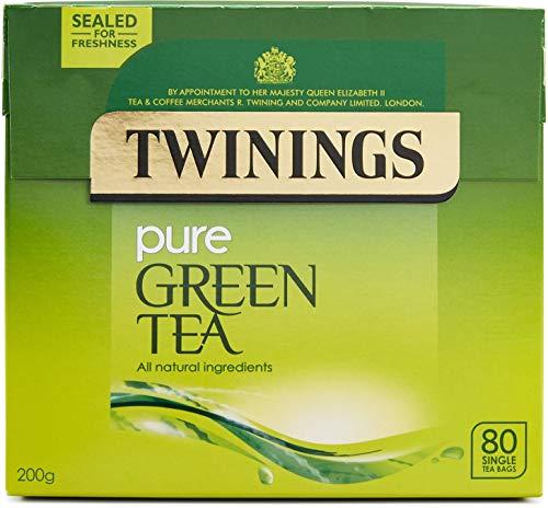 Twinings Pure Green Tea 80 Single Tea Bags, 200g