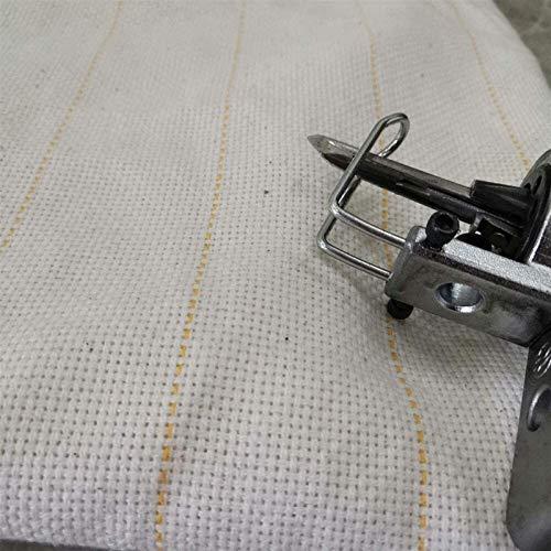 Decor 1M * 5M Paño de Acoplamiento primario, Tela de Soporte de Tela de Respaldo para Usar Pistolas de tufting de alfombras Ancho 5M Tela Muselina/Textil sin blanquear con línea guía