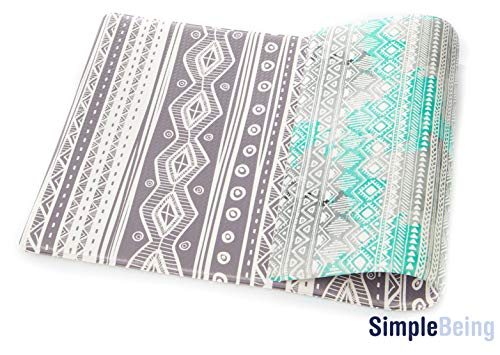 """Simple Being Anti Fatigue Kitchen Floor Mat, Comfort Heavy Duty Standing Mats, Ergonomic Non-Toxic Waterproof PVC Non Slip Washable For Indoor Outdoor Home Use (Bohemian, 32"""" x 17.5"""")"""