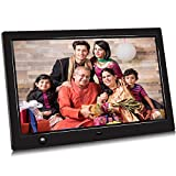 Jimwey 10.1 inch Digital Photo Picture Frame with Motion Sensor, Timing Power On/Off, 480P HD Video Player, Background Music, USB Drive, SD Card