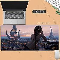 素敵なマウスパッド特大アイスプリンセスゴーストナイフ風チャイムプリンセスアニメーション肥厚ロック男性と女性のキーボードパッドノートブックオフィスコンピュータのデスクマット、Size :400 * 900 * 3ミリメートル-NC-576