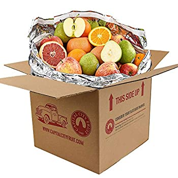 Gourmet Fruit Gift Pack  20lbs  Orchard Fresh Oranges Pears Apples and Grapefruit  32 pieces  loaded with Immunity Boosting Vitamin C from Capital City Fruit Farm Produce Direct
