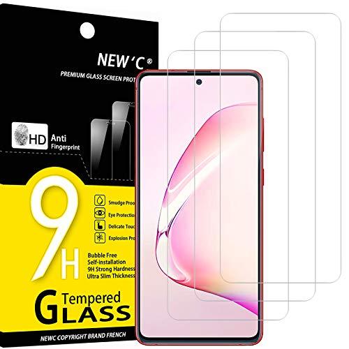 NEW'C Lot de 3, Verre Trempé Compatible avec Samsung Galaxy S10 Lite, Note 10 Lite, Film Protection écran Ultra Résistant (0,33mm HD Ultra Transparent) Dureté 9H Glass