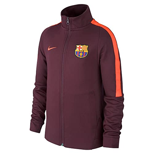 0d1b9f2bc73 NIKE Youth FC Barcelona Jacket [Night Maroon]