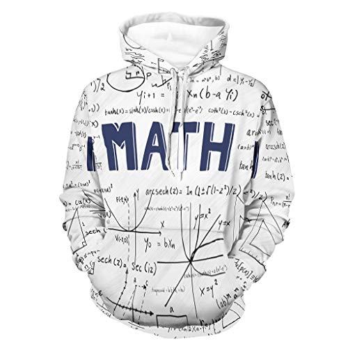 Lind88 Unisex Math Formula Quadrant Sudadera Fashion – Funny Science suelto uniforme blanco 5xl