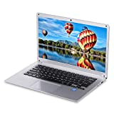Festnight Ordenador portátil de 14,1 Pulgadas Procesador Intel Z8350 2GB DDR3 32GB SSD con Varios Puertos Portátil para Oficina de Negocios Ordenador portátil de Plata Enchufe de la UE