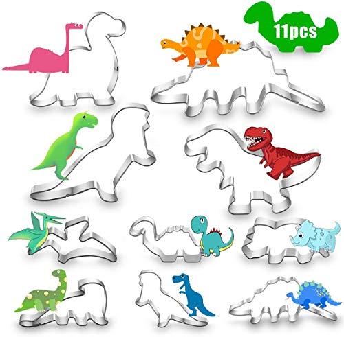 Jiahuade Dinosaurier Ausstechformen Set,Dino Keksausstecher Groß,Dinosaurier Ausstechformen,Ausstecher Brot Kinder,Plätzchenausstecher Weihnachten Set,Ausstechformen Set,Ausstecher Plätzchen