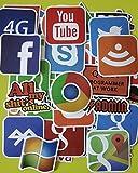 ND_Lot de 50 Autocollants aléatoire Informatique en Vinyle pour Ordinateur, Skate,...