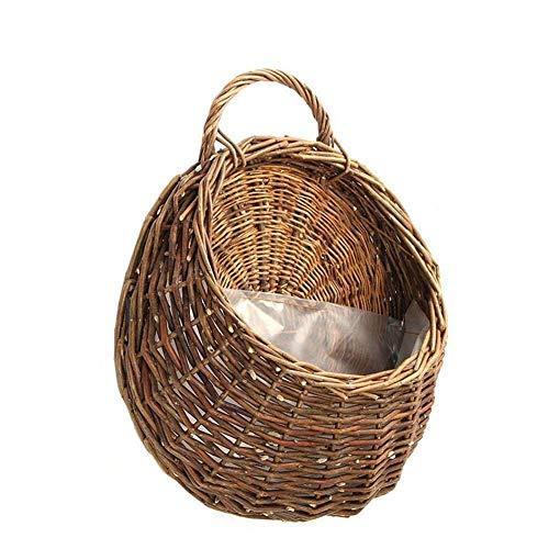 Demarkt Maceta de mimbre para colgar en la pared, maceta de cerámica para jardín, decoración de pared, decoración de puerta