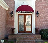 Dome Style Window Awning or Door Canopy 5' Wide in Sunbrella Awning Fabric - Burgundy