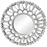 FLAMEER Espejo de Pared Decorativo - Espejos de Acento Redondos pequeños, Espejo Circular de 9,8 x 9,8 Pulgadas para la...