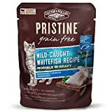 Castor & Pollux Pristine Grain Free Wild-Caught Whitefish Recipe Morsels in Gravy Cat Food Pouches, (24) 3oz cans