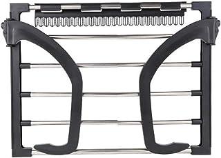 VOSAREA - Tendedero de pared para radiador de balcón, de acero inoxidable, para colgar (negro)