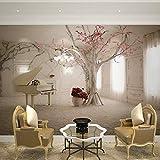 Fotomurales Piano de arte moderno, ramas Papel pintado tejido no tejido, Fotomurales Decoración hogareña Para sala de estar tv bar fondo pared 400x280 cm