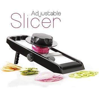 NEW CREATION Stainless Steel Vegetable Slicer Cutter,Potato Chips Maker-Silver