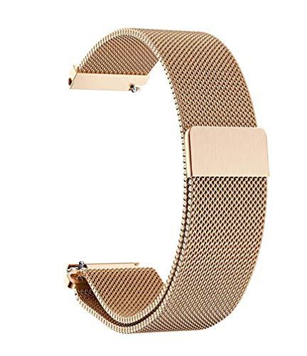 Herren Damen Edelstahl Magnet Armbänder Schnellspanner Uhrenarmband 14mm 16mm 18mm 20mm 22mm,Silber Schwarz Gold Rose Gold
