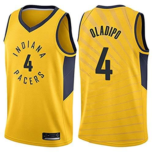Cute Totoro Jersey de Baloncesto LCY para Hombre - NBA Pacers # 4 Oladipo Wear Camisetas Deportivas sin Mangas Transpirables Retro Swingman Jersey (C,M)