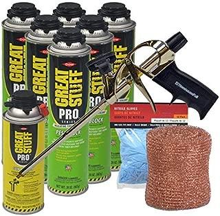 Dow Great Stuff Pro Pestblock Foam Sealant Kit with ProFoam Gun,Copper Mesh and Gloves