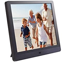 Amazing high resolution photo and video viewing experience on a 9. 7 inch (24. 6 cm) IPS display, 1024x768 pixels, 4: 3 ratio. Easily manage the frame remotely and connect up to 25 frames from one single online account, completely FREE. Easy set-up: ...