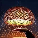 Lámpara Colgante Vendimia Tejida De Bambú Natural De La Rota Hecha A Mano Araña De Luces Creativa Lámparas Araña E27 Altura Pendiente Ajustable Habitación Restaurante Living Luz De Techo Café